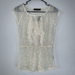 THE LIMITED Sheer Lace Blouse